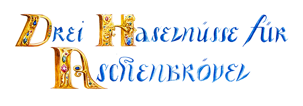 Three Wishes for Cinderella, lettering.