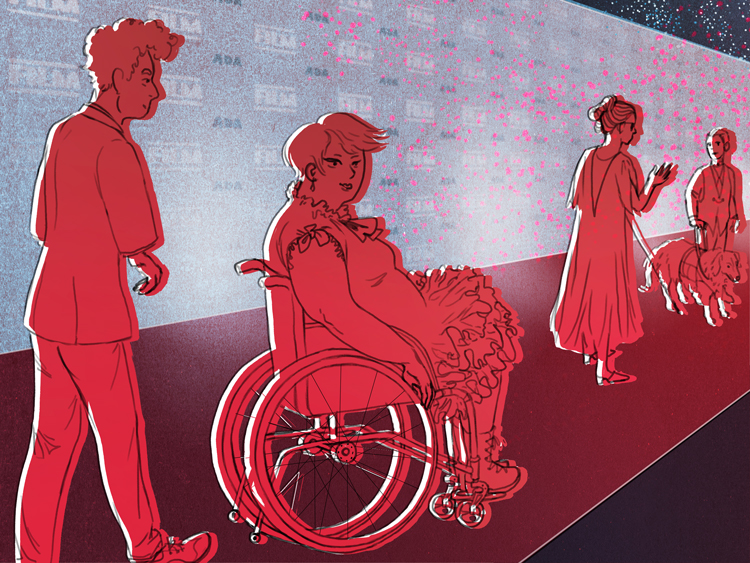 backstage magazine disabled actors future, illustration.