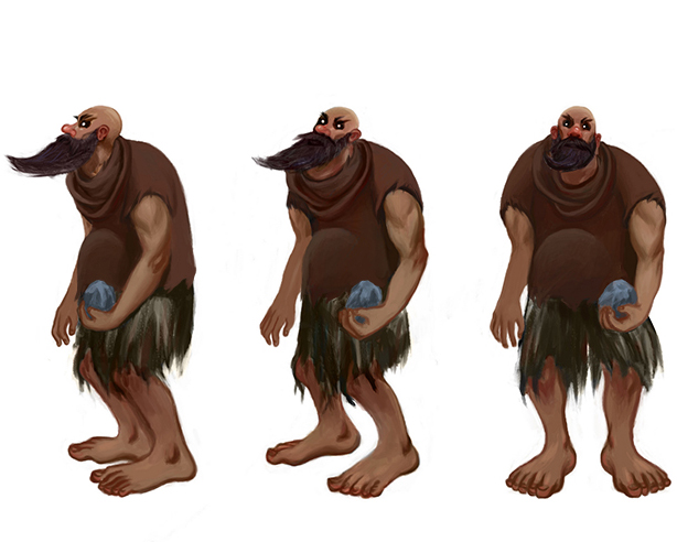 giant, character turnaround illustration.