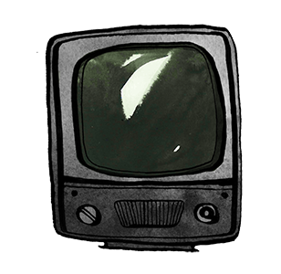 TV, illustration.