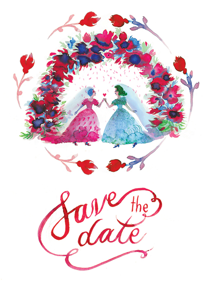 Save the Date, illustration.