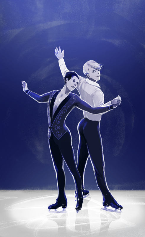 Yuri on Ice, illustration.